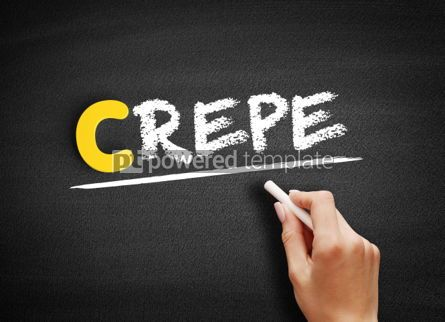 Business: Crepe text on blackboard #00465