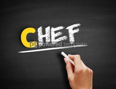 Business: Chef text on blackboard #00466