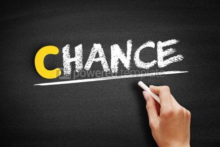 Business: Chance text on blackboard #00467