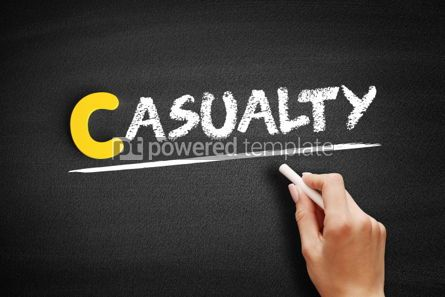 Business: Casualty text on blackboard #00468