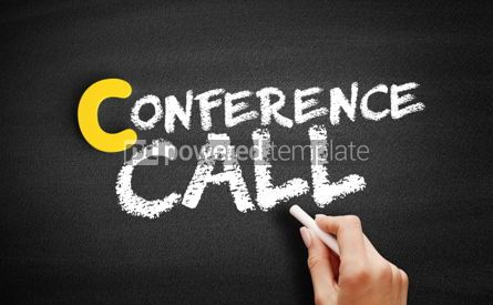 Business: Conference Call text on blackboard #00469