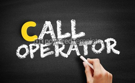 Business: Call operator text on blackboard #00470