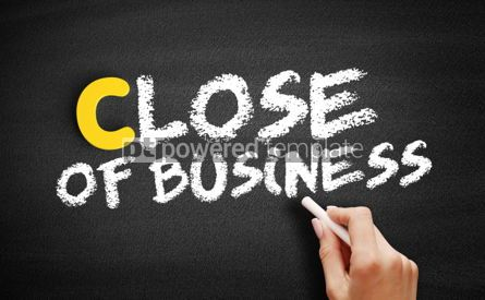Business: Close of Business text on blackboard #00471