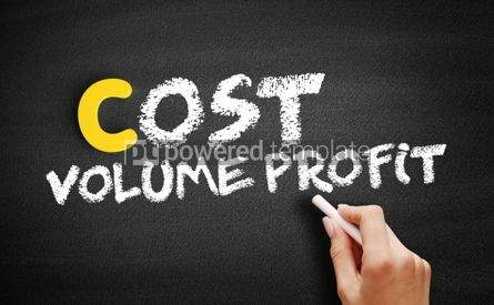Business: Cost Volume Profit text on blackboard #00472