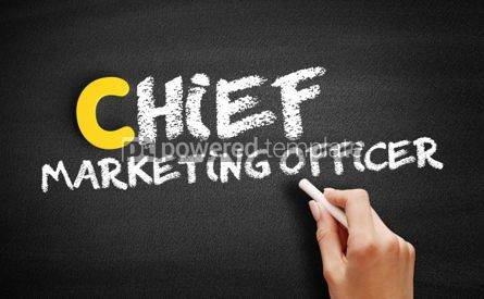 Business: Chief Marketing Officer text on blackboard #00473