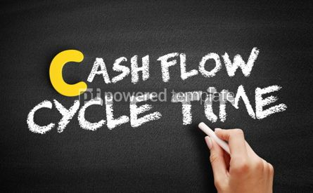 Business: Cash Flow Cycle Time text on blackboard #00474