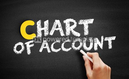 Business: Chart of Account text on blackboard #00475