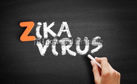 Business: Zika Virus text on blackboard #00476