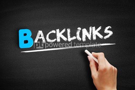 Business: Backlinks text on blackboard #00482