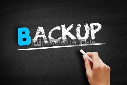 Business: Backup text on blackboard #00483
