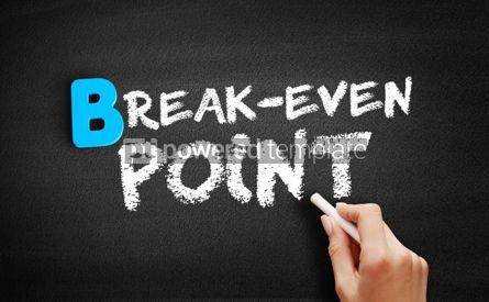 Business: Break Even Point text on blackboard #00484