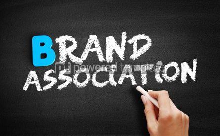 Business: Brand Association text on blackboard #00485