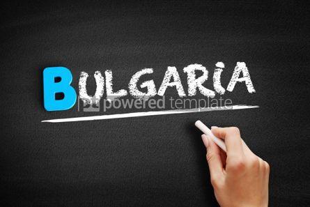 Business: Bulgaria text on blackboard #00486
