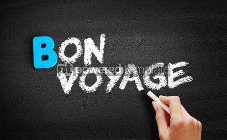 Business: Bon Voyage text on blackboard #00487
