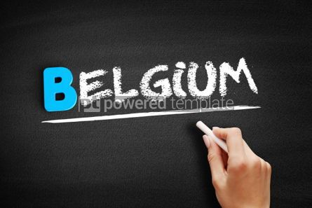 Business: Belgium text on blackboard #00488