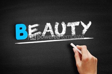 Business: BEAUTY text on blackboard #00489