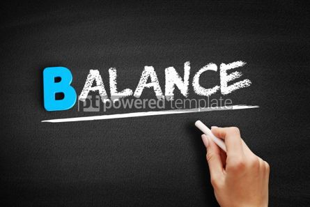 Business: BALANCE text on blackboard #00490