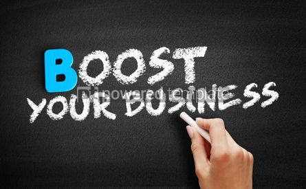 Business: Boost Your Business text on blackboard #00491