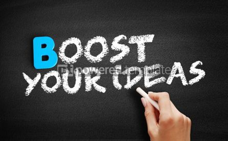 Business: Boost Your Ideas text on blackboard #00493