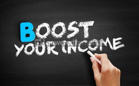 Business: Boost Your Income text on blackboard #00494