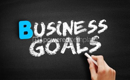 Business: Business Goals text on blackboard #00499