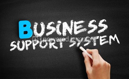 Business: Business Support System text on blackboard #00505