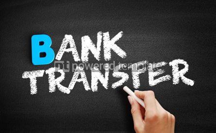 Business: Bank Transfer text on blackboard #00511