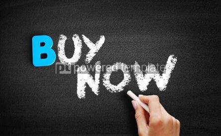 Business: BUY NOW text on blackboard #00513