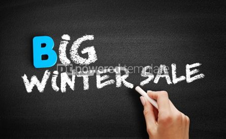 Business: Big winter sale text on blackboard #00514