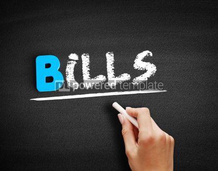 Business: Bills text on blackboard #00515