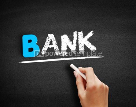 Business: BANK text on blackboard #00516