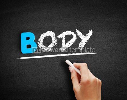 Business: Body text on blackboard #00517
