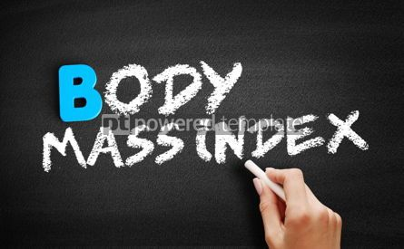 Business: Body Mass Index text on blackboard #00518