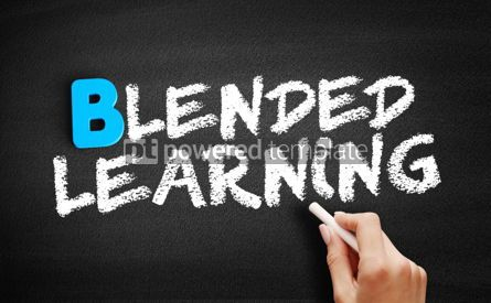 Business: Blended Learning text on blackboard #00519