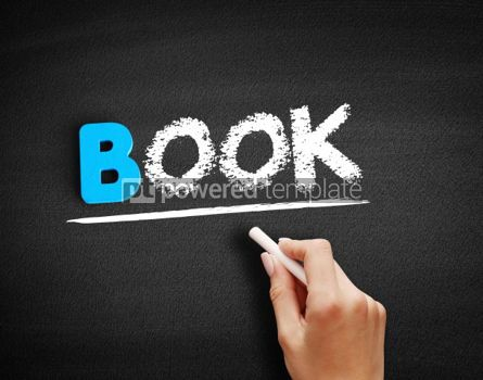 Business: Book text on blackboard #00520