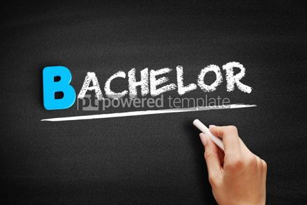 Business: Bachelor text on blackboard #00521
