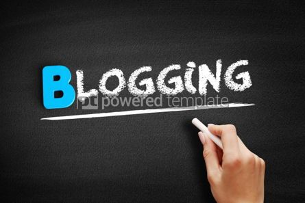 Business: Blogging text on blackboard #00523