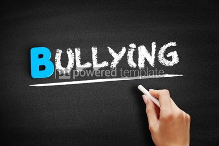 Business: Bullying text on blackboard #00527