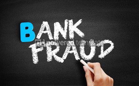 Business: Bank fraud text on blackboard #00528