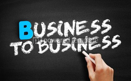 Business: 企业对企业文本在黑板上照片 #00529