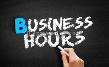 Business: Business hours text on blackboard #00534