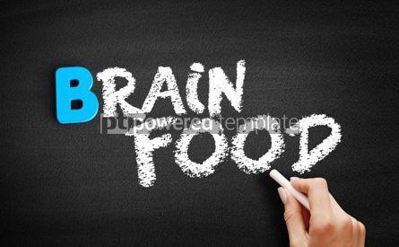 Business: Brain Food text on blackboard #00536