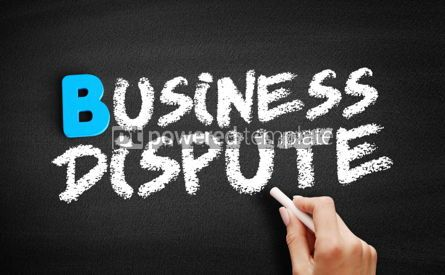 Business: Business dispute text on blackboard #00537