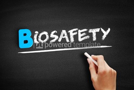 Business: Biosafety text on blackboard #00538