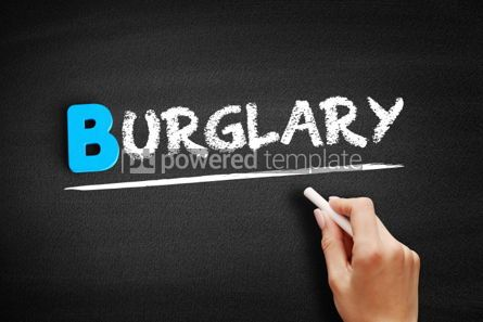Business: Burglary text on blackboard #00540