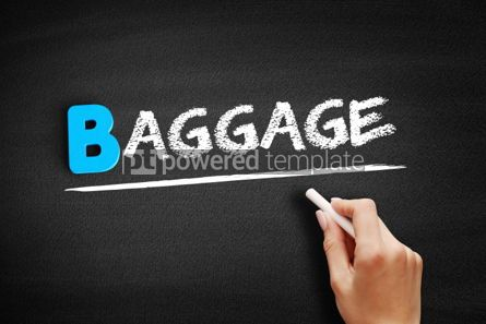 Business: Baggage text on blackboard #00542