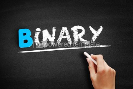 Business: Binary text on blackboard #00543