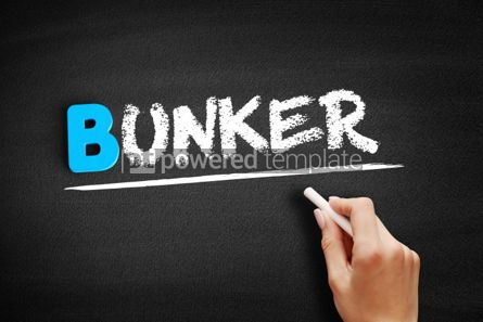 Business: Bunker text on blackboard #00545