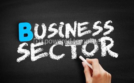 Business: Business sector text on blackboard #00546