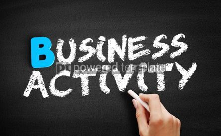 Business: Business activity text on blackboard #00547